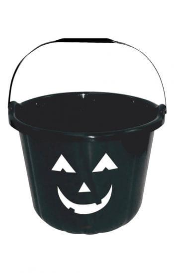 Grinsender Halloween Eimer schwarz