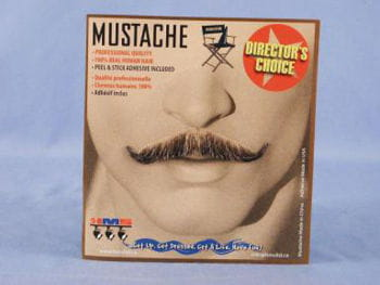 Real hair magician mustache brown