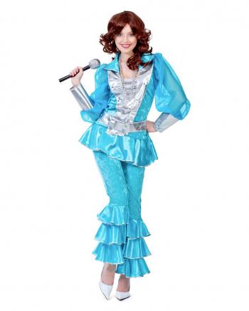 Türkises 70s Mama Mia Deluxe Kostüm