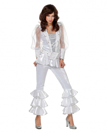 Weißes 70s Mama Mia Deluxe Kostüm