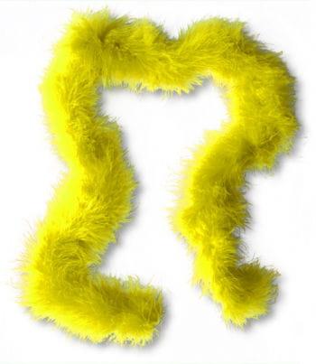 Marabou Feather Trim Yellow