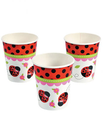 Ladybug paper cups