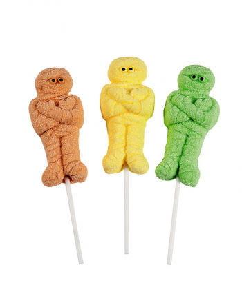 Marshmallow mummy on the stick
