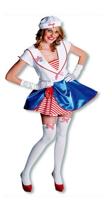 Matrosen-Mädchen Premium Kostüm XL
