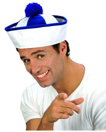 Sailor Hat White-blue