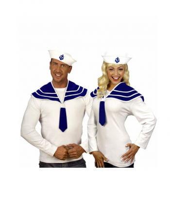 Seefahrer Set weiß/blau