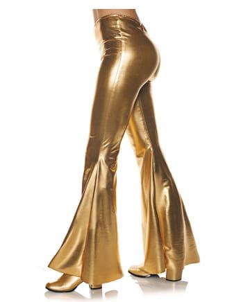 Metallic Kostüm Schlaghose Gold