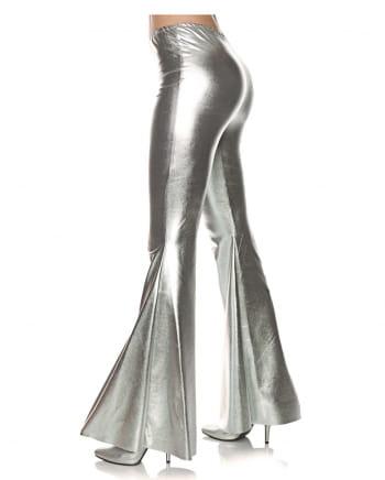 Metallic Kostüm Schlaghose Silber