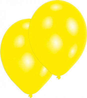 Premium Luftballons metallic Gelb