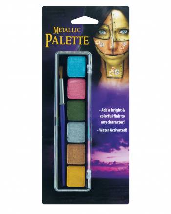 Metallic Aquacolor Make Up Palette 6 Farben