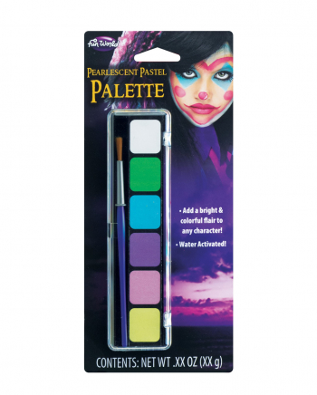 Pastel Aqua Color Make Up Palette 6 Colours