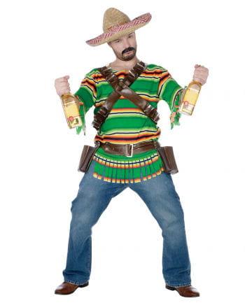Mexikaner Kostüm mit Schnapsbecher Holster