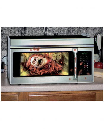 Halloween microwave foil Zombie woman