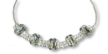 Fashion Jewellery Necklace with Rhinestones