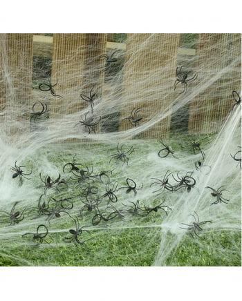 Schwarze Kunststoff Spinnen 50 St.
