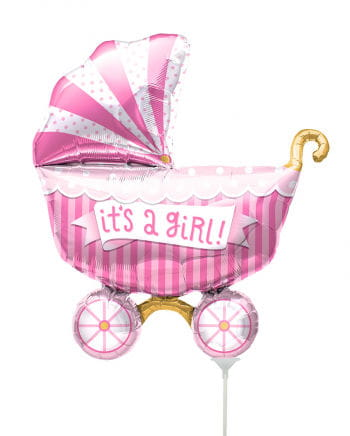 "Mini foil balloon stroller ""It`s A Girl"""