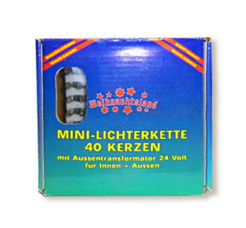 Mini Lichterkette 40 Kerzen