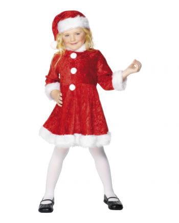 Mini Miss Santa Kinderkostüm mit Mütze