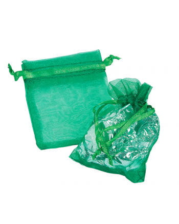 Grüne Organza Säckchen Mini 25 St.