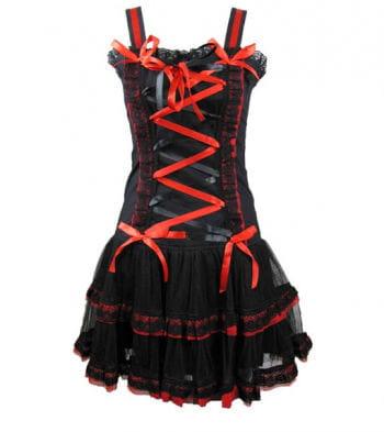 Minikleid schwarz rot