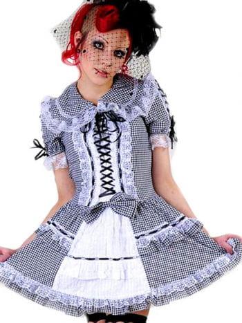 Minikleid schwarz-weiß karier Gr. M