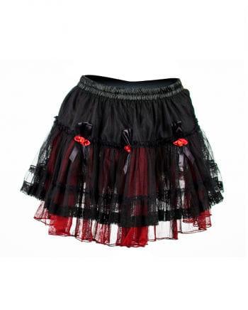 Gothic Minirock schwarz-rot