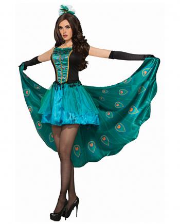 Elegantes Pfauen Kostüm für Damen