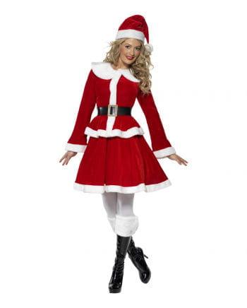 Miss Santa Damenkostüm mit Muff Plus Size