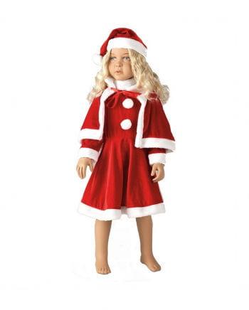 Kleine Miss Santa Kinderkostüm mit Cape