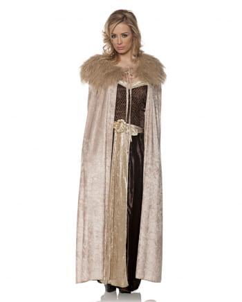 Mittelalter Kostüm Cape beige