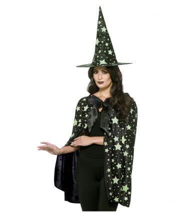 Midnight Witch Umhang mit Hut