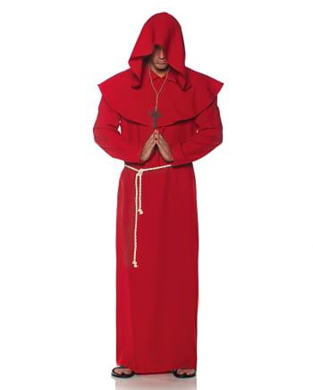 Mönchsrobe Männerkostüm rot