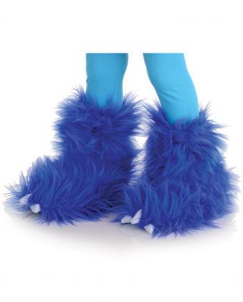 Haarige Monster Stiefelstulpen Blau