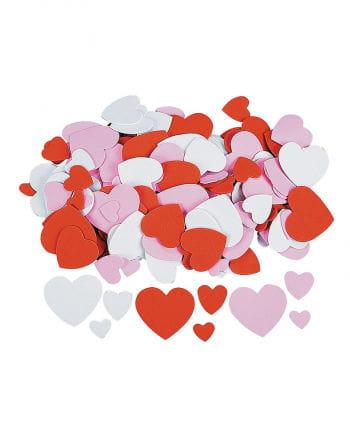 Herzen aus Moosgummi