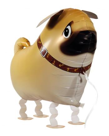 Mops Hund Airwalker Ballon