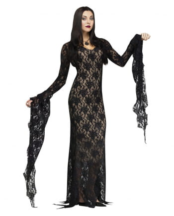 Morticia Deluxe costume with lace