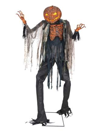 Glowing Pumpkin Scarecrow Animatronic