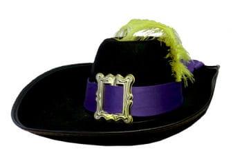Musketeer Hat Black