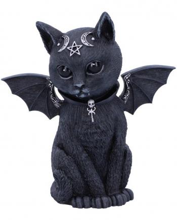 Mystische Katzenfigur mit Fledermaus Flügel