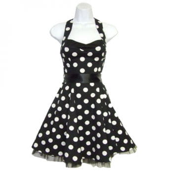 Halter Rockabilly Dress black and white