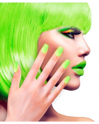 Airbrush Fingernägel Neon Grün