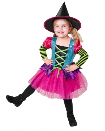 Neon Witch Kids Costume