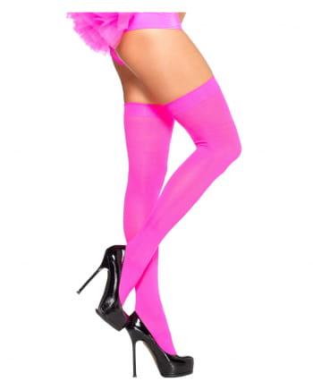 80s Kniestrümpfe Neon Pink
