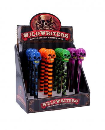 Neon Skull Ballpoint Pen