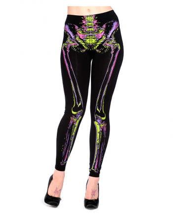 Leggings mit Skelett Print
