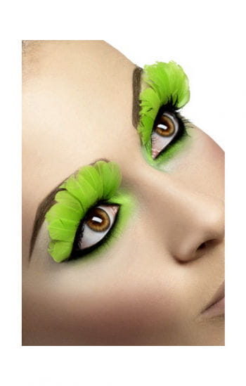 Feather Eyelashes Neon Green