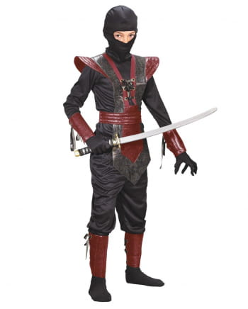 Ninja Fighter Kids Costume Red S