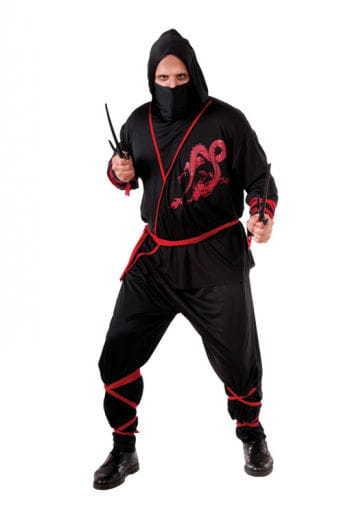 Schwarzes Schinobi Kostüm XL