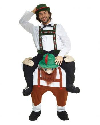 Starker Bayer Huckepack Kostüm