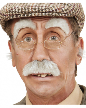 Großvater Augenbrauen & Schnurrbart